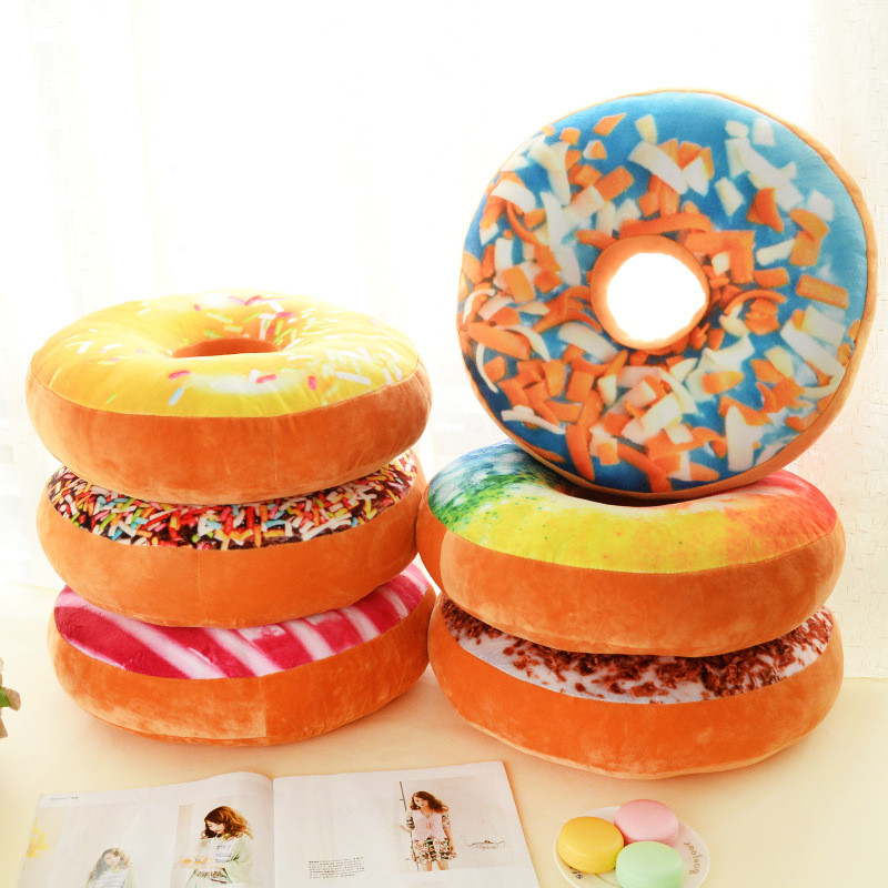 Cushion-Case-Toys Seat-Pad Simulation-Cushion Sofa-Decorative Plush-Pillow Donut-Foods