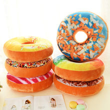 1Pcs Xmas 40cm Sofa Decorative Cute Simulation Cushion Soft Plush Pillow Without Stuffed Seat Pad Donut Foods Cushion Case Toys(China)