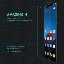 Для Xiamo Mi8 Стекло оригинальный NILLKIN amazing H закаленное Стекло Экран протектора Анти-взрыв Экран пленка для Xiaomi Mi8 Мобильный пленка