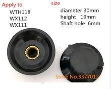 5 pçs/lote K18-2 Aplicar para WTH118 WX112 interruptor baquelite chapéu botão potenciômetro WX111 núcleo de cobre de 6 MM de furo de orelha