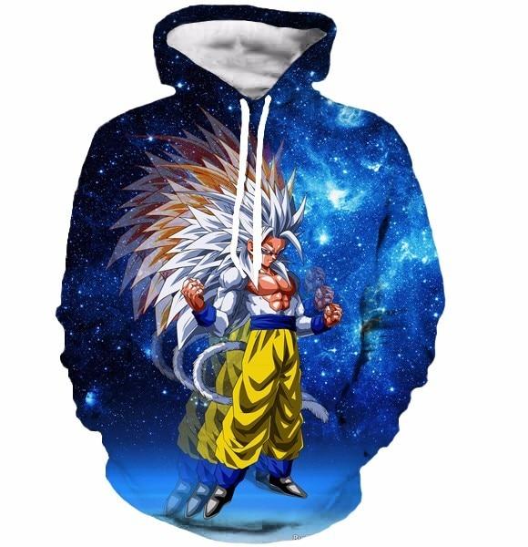 Dragon Ball Z Super Saiyan 3D Hoodie Outerwear