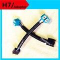 2X H7 cerámica Masculino cable adaptador cable connector casquillo para Mujer H7 LED/Halógena/HID H7 faros de extensión mazo de cables del relé