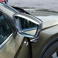 Fit For Skoda Kodiaq 2017 2018  ABS Chrome Car rearview mirror block rain eyebrow Cover Trim car styling accessories 2pcs