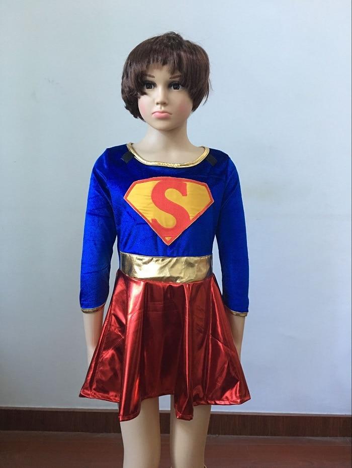 Ropa de carnaval para niños Supergirl niña sexy disfraz de súper - Disfraces