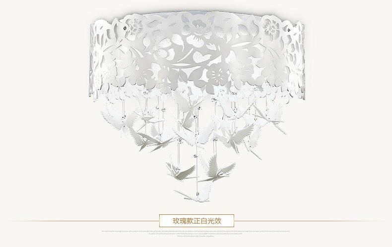 Поли спальне легкой романтической потолочный светильник led лампы кристалла ресторан в саду лампа Свадьба комната освещения лампы 135