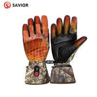 RETTER heizung handschuhe neue camo jagd winter warme heizung anti-einfrieren touchscreen outdoor sport leder handschuhe