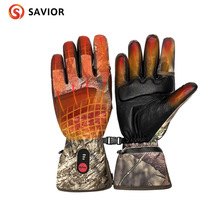 Redder Verwarming Handschoenen Nieuwe Camo Jacht Winter Warm Verwarming Anti-Freeze Touch Screen Outdoor Sport Lederen Handschoenen