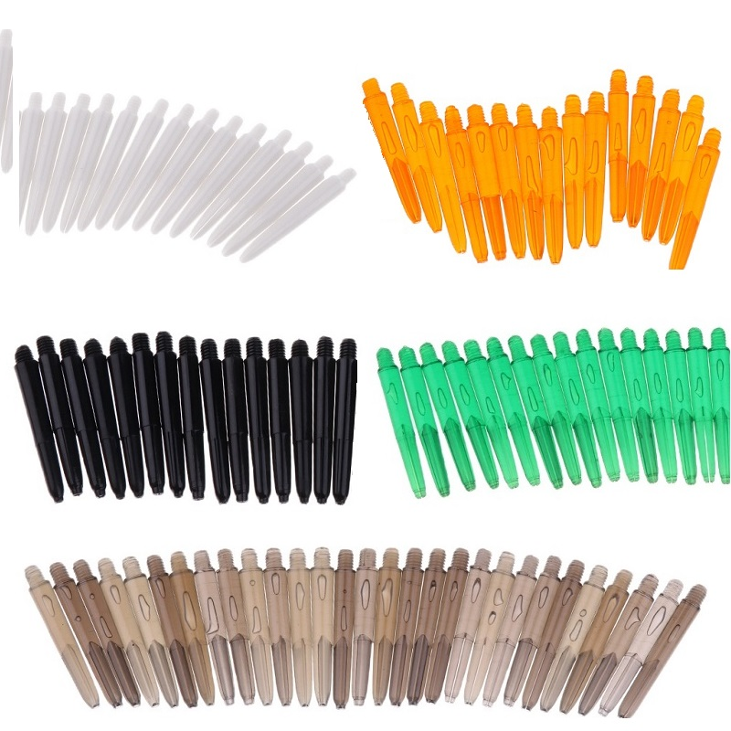 MagiDeal 30 Pcs 35mm 2BA Thread Plastic Re-Grooved Dart Stems Shafts 6 Colors To Choose 2BA Stems Aluminum Dart Shafts