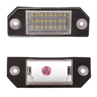 2pcs 24 LED 3528 SMD 12V 3W License Plate Lights Bright White Lamps For Ford Focus