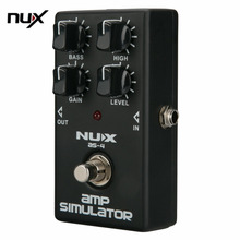 Mini Guitar NUX Distortion Effect Pedal Guitar Simulator Booster Professional Guitar Simulation Chorus Effect Device AS-4 new
