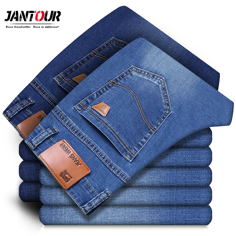 2019 New Spring summer cotton   Jeans   Men High Quality Famous Brand Denim trousers male soft mens pants Large Big size 35 36 38 40