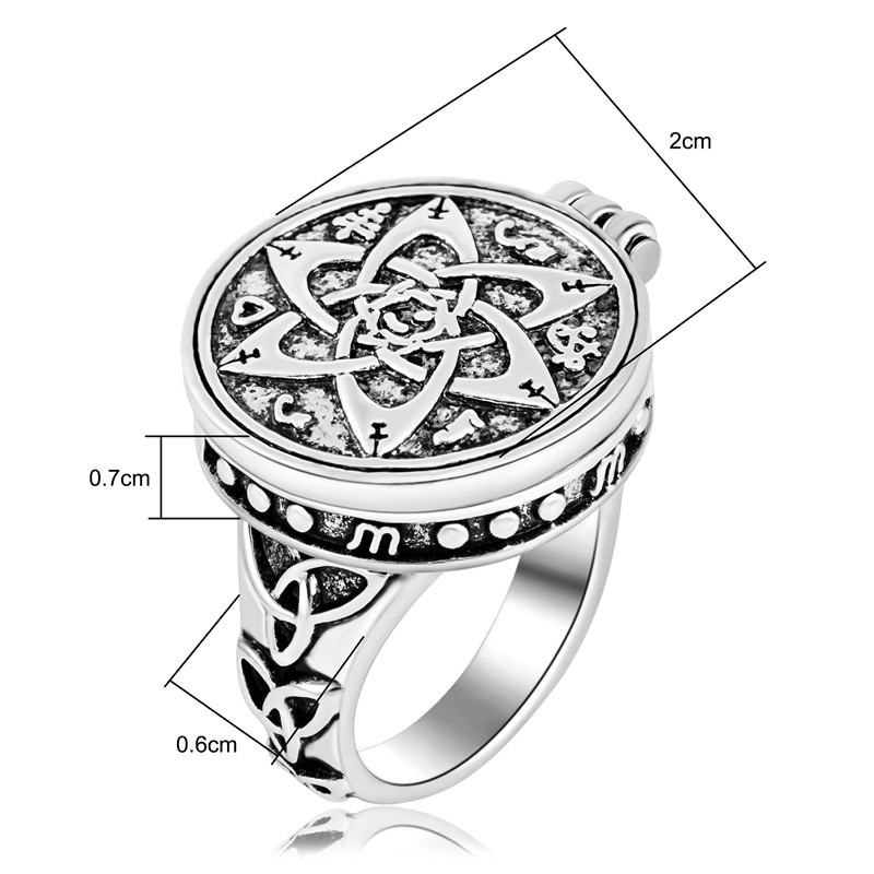 US $4 99  EZEI Talisman for Poets Writers and Actors Pentacle Photo Box  Ring Hermetic Men Jewelry-in Rings from Jewelry & Accessories on