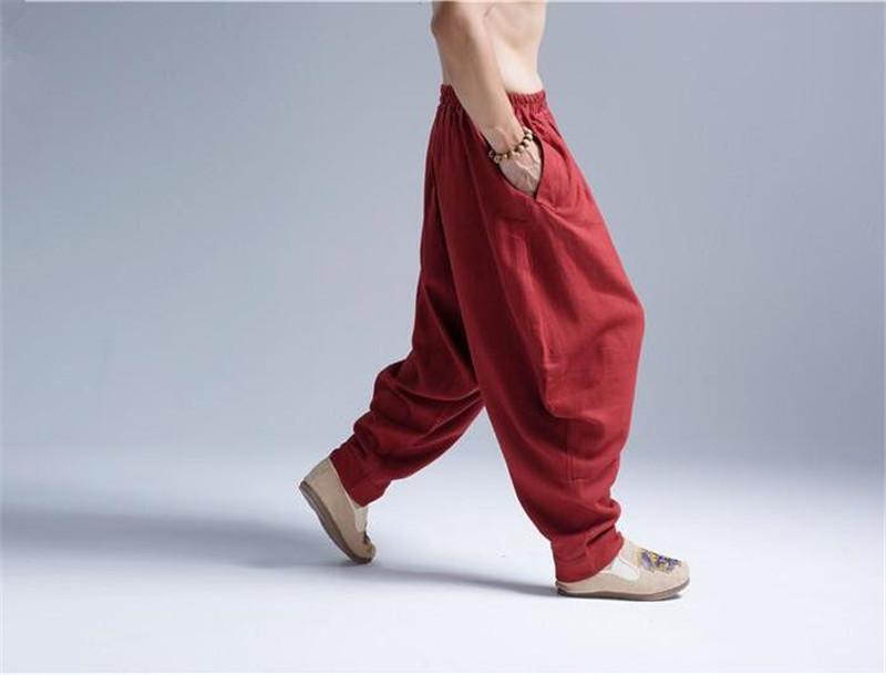 Pantalon Shenzhen rouge, vue latérale