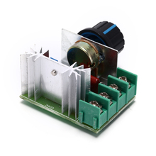 Тиристорный электронный диммер 220 В кремниевый светодиодный выпрямитель SCR регулятор напряжения контроль скорости термостат температуры 2000 Вт