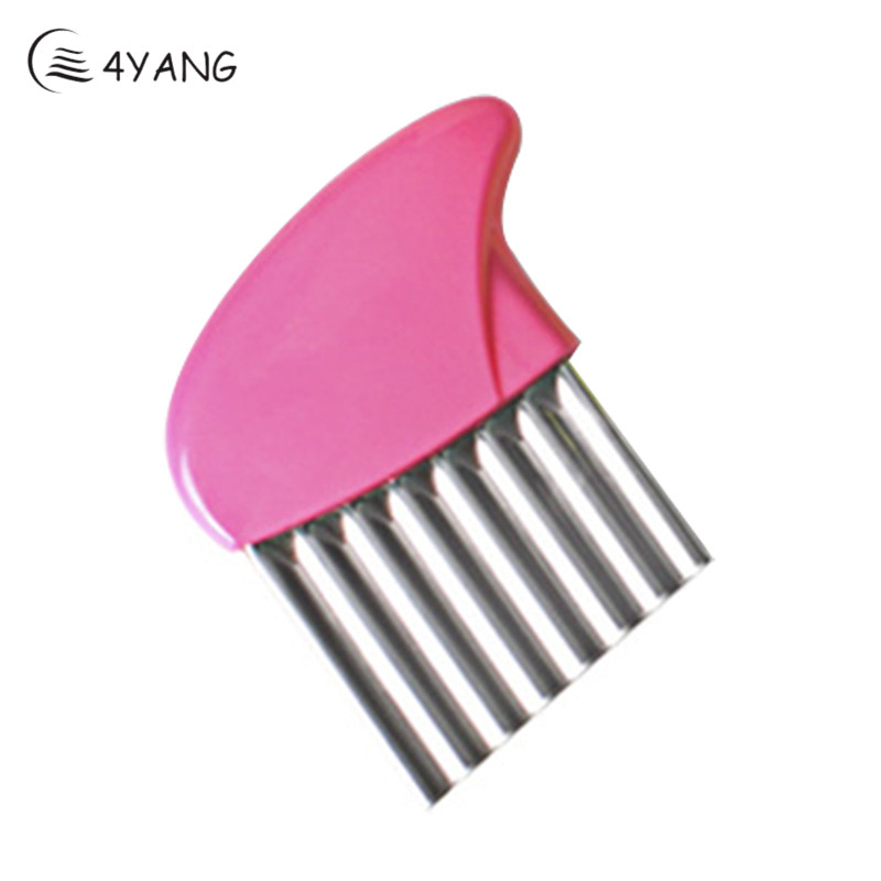 4YANG New Arrival Multifunctional Wave Vegetable Shredder Potato Carrot Slicer Fries Corrugated Fry Shredder Random Color