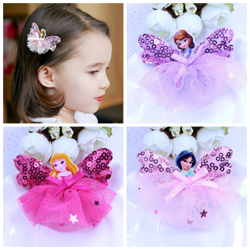 Fashion Children Headwear Princess Hair Clips Hairbands Hair Accessories Barrettes Bandage hairgrip Hairpin For Cute Baby cheap 1pcs women headwear scissors comb hair clip hair accessories headpiece hairpin headwear gold silver color drop shipping