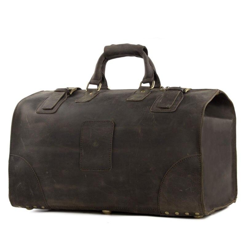 Rockcow Винтаж Crazy Horse Кожаные мужские дорожные сумки большой багажа и сумки спортивный костюм большой tote 3151