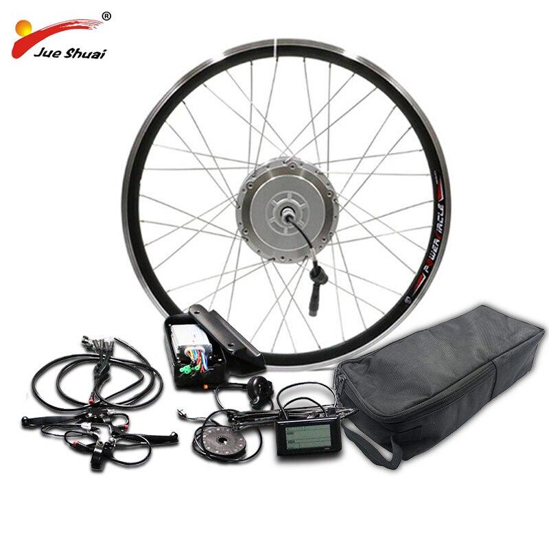 BAFANG 48 V 350 W 500 W Kit de Conversion de vélo électrique avec batterie LG48V16AH 8fun moteur de moyeu de vitesse 26