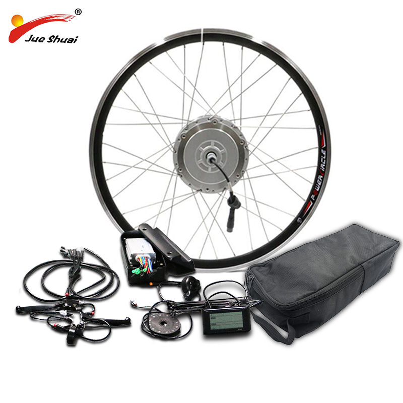"BAFANG 48V 350W 500W Motor Wheel Electric Bike Conversion Kit with LG48V16AH Battery 8fun Gear Hub Motor 26"" 700C 28"" Ebike Kit"