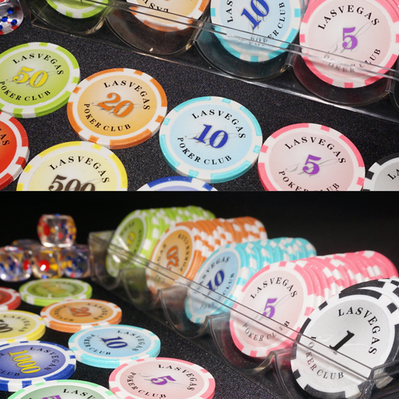 100 PCS/SET Optical Maser Poker Chips 12g ABS Plastic Chips Texas Holdem Poker Wholesale For Club Free Shipping