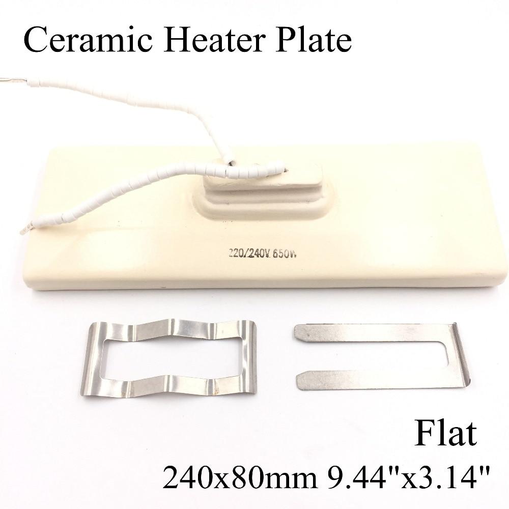 240*80mm Flat Vacuum Injection Molding Machine Repair Far-infrared IR Ceramic Heating Plate Air Ceramic Heater Board Pad For Bga
