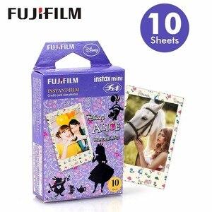 Image 1 - Genuine Fuji Fujifilm Instax Mini Film Alice Carta Fotografica 10pcs Per 9 8 7s 50s 50i 90 25 dw Condividere SP 1 SP 2 Macchina Fotografica Istantanea