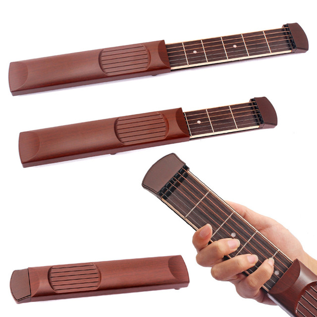 Portable 6 String 6 Fret Pocket Acoustic Guitar Practice Tool Gadget ...