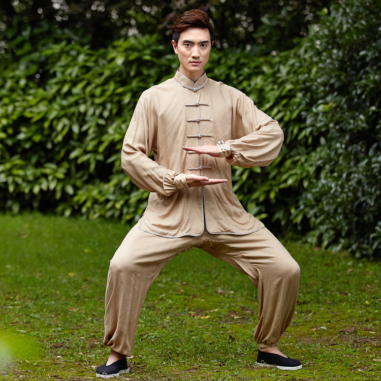 Traditional Chinese Men Kung Fu UniformCotton Tai Chi Suit Male Vintage Button Clothing M L XL XXL XXXL NS017