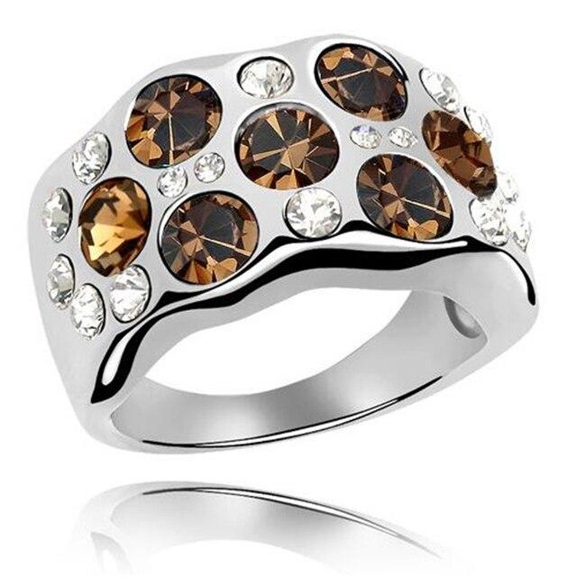 Swarovski Rings For Women White Gold Plated