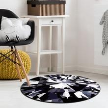 Diamond printed round carpet nordic geometric living room tea shop decorative mat childrens bedroom soft floor rug