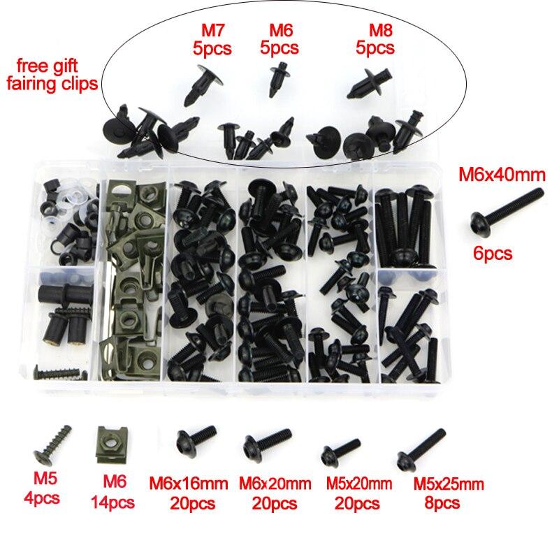 Обтекателя Болты комплект Шурупы Для Honda VFR750 VFR750F VFR800 VFR800X Crossrunner VFR1200X Crosstourer VTR1000 VTR1000F VFR1200F