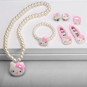 Children Hair Accessories Set Hello Kitty Jewelry set 1