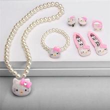 Hello Kitty Jewelry Set Necklace Bracelet Hairpin