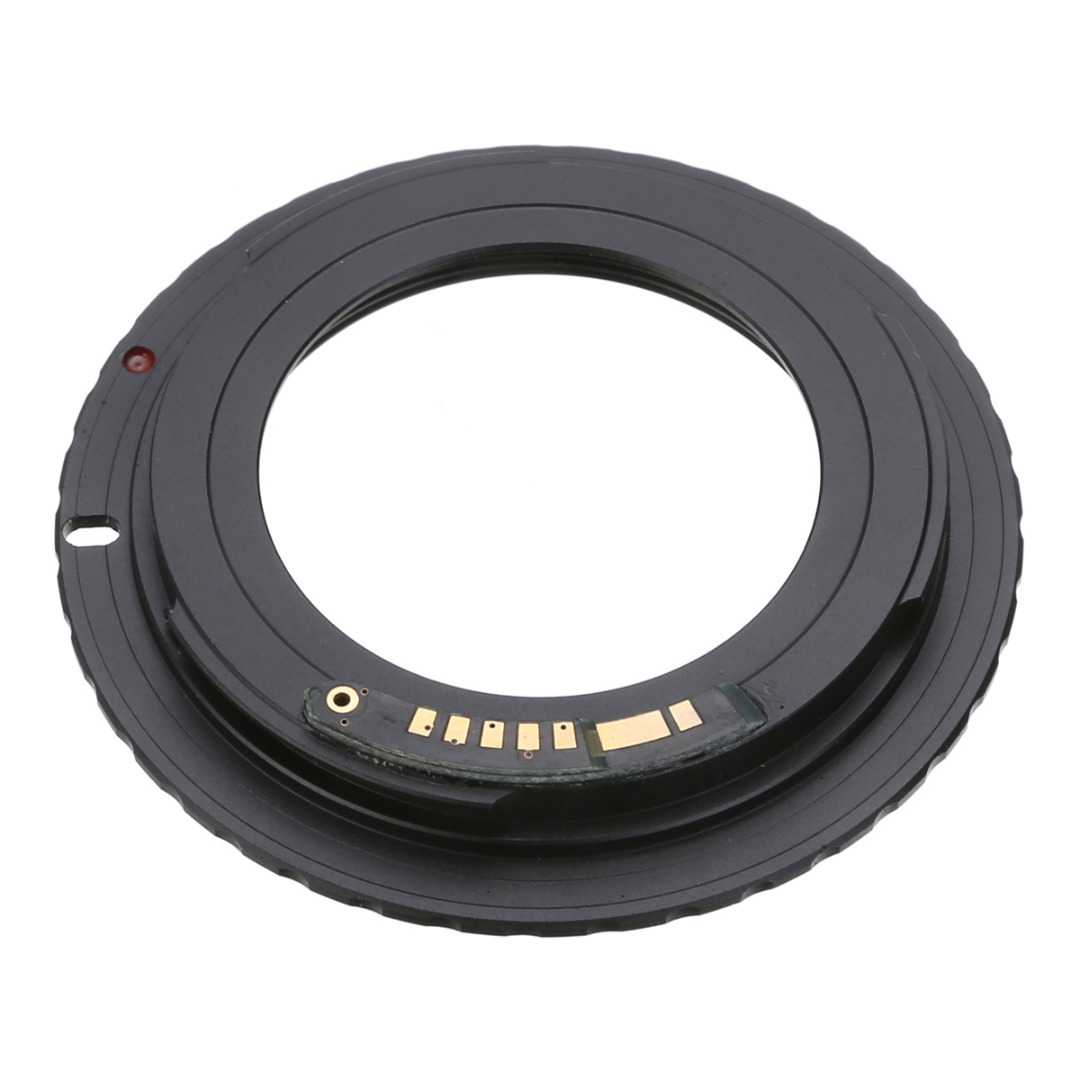 Mayitr 1pc Black Camera Lens Adapter For AF Confirm M42 Lens For Canon EF Mount Ring Adapter AF III Confirm