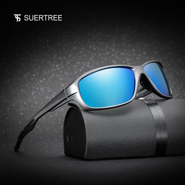 221ec8735f SUERTREE Polarized Sunglasses Travel Sun Glasses Sport Sunglass For Male  Driving Eyewear Gafas De Sol 1009