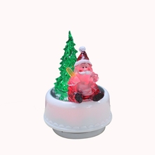 MusicBox Santa Claus Decorating light up Tree Music Box with song Jingle Bells
