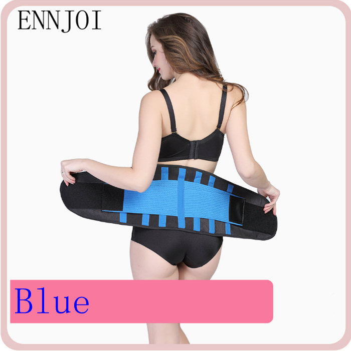 9205424ad1e 9 Colors Men And Women Adjustable Elastic Waist Support Belt Lumbar Back  Support Belly Trainer Fitness Slimming Waistband