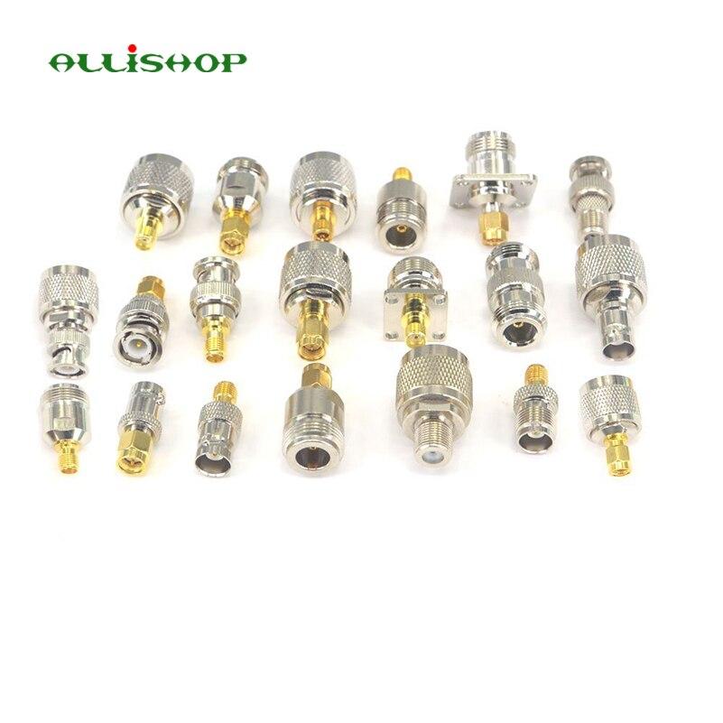 ALLiSHOP 20 kit adaptador SMA RP conector SMA a N SMA a BNC SMA a TNC RF Coaxial conectores macho hembra M/F conector