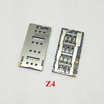 10PCS/Lot SIM Card Socket Reader Tray Holder Slot Adapters for Sony Xperia Z4 E6553 E6533 Replacement Spair Parts
