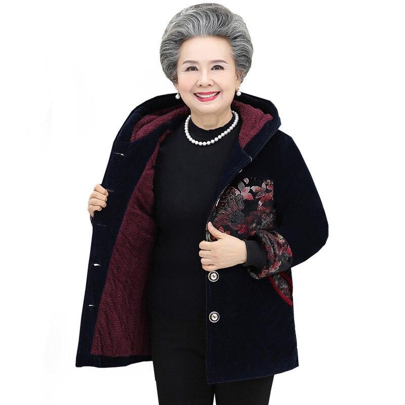 De Hiver 2018 Épaissie Veste Robe Coton Velours Plus Le Grand Vers Coton Bas Vert Rembourré Vieux mère Manteau Mère Robe rouge zXqd0Xw