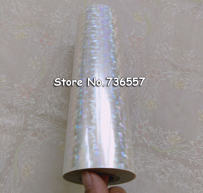 Голографическая фольга прозрачная пленка битое стекло Горячее тиснение фольгой нажмите на бумаге или пластиковой 16 см 21 см 64 см ширина 120 м длина
