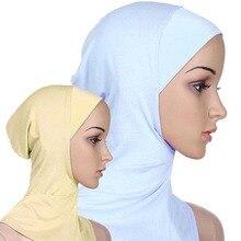 2015 Soft Muslim Full Cover Inner Women's Hijab Cap Islamic Underscarf Neck Head Bonnet Hat 76HL