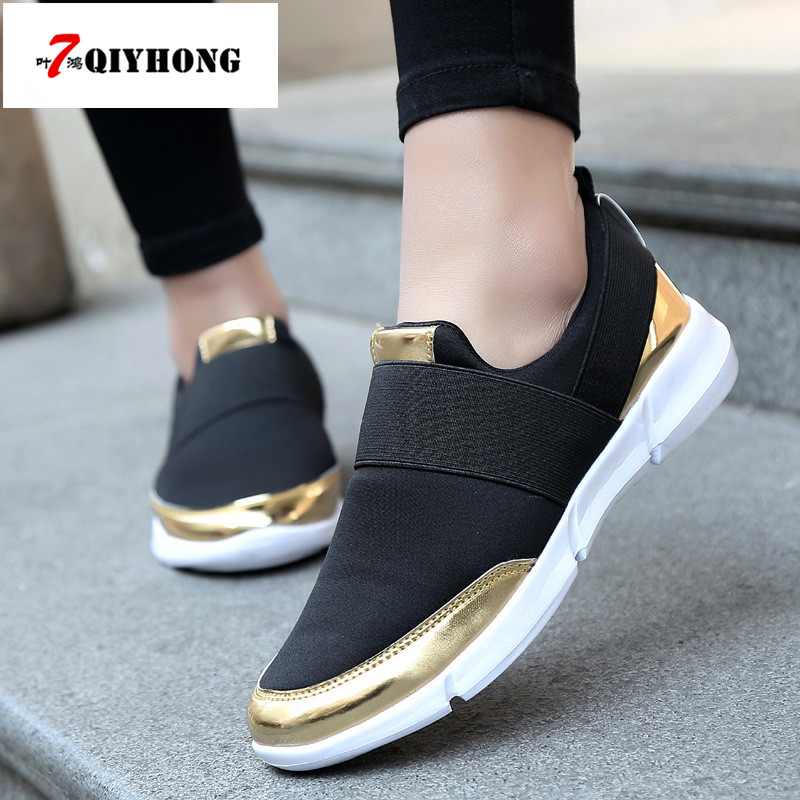 2018 Brand Mesh Breathable Summer Shoes Women Loafers Slip On Casual Shoes Ultralight Flats Shoes New Zapatillas Shoes Size35-42 new air mesh women casual shoes breathable outdoor sport walk flats brand lace up low heel footwear zapatillas deportivas mujer