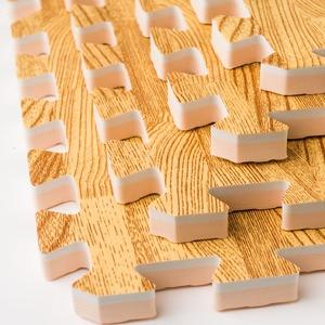 Image 2 - Meitoku Soft EVA Foam puzzle 크롤링 매트, 10pcs 목재 연동 바닥 타일, 어린이, 거실, 체육관 용 방수 깔개 각: 32X32cm