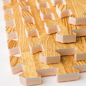 Image 2 - Meitoku yumuşak EVA köpük bulmaca emekleme paspası; 10 adet ahşap kilitleme yer karoları; Su geçirmez çocuklar için halı, oturma odası, spor salonu her: 32X32cm
