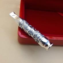Saf gümüş Xianglong sigara tutucu filtre elemanı ile 999 gümüş takı sigara çantası, musluk sigara, boru, erkek