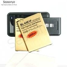Seasonye 2x3800mAh BL-44E1F / BL44E1F / BL 44E1F Or Remplacement Batterie + Chargeur Universel Pour LG V20 H990 F800 + Code de Voie