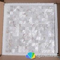 Słodkowodnych powłoki bez szwu biała masa perłowa mozaika płytki backsplash i łazienka 11 metrów kwadratowych/lot kwadratowy wzór
