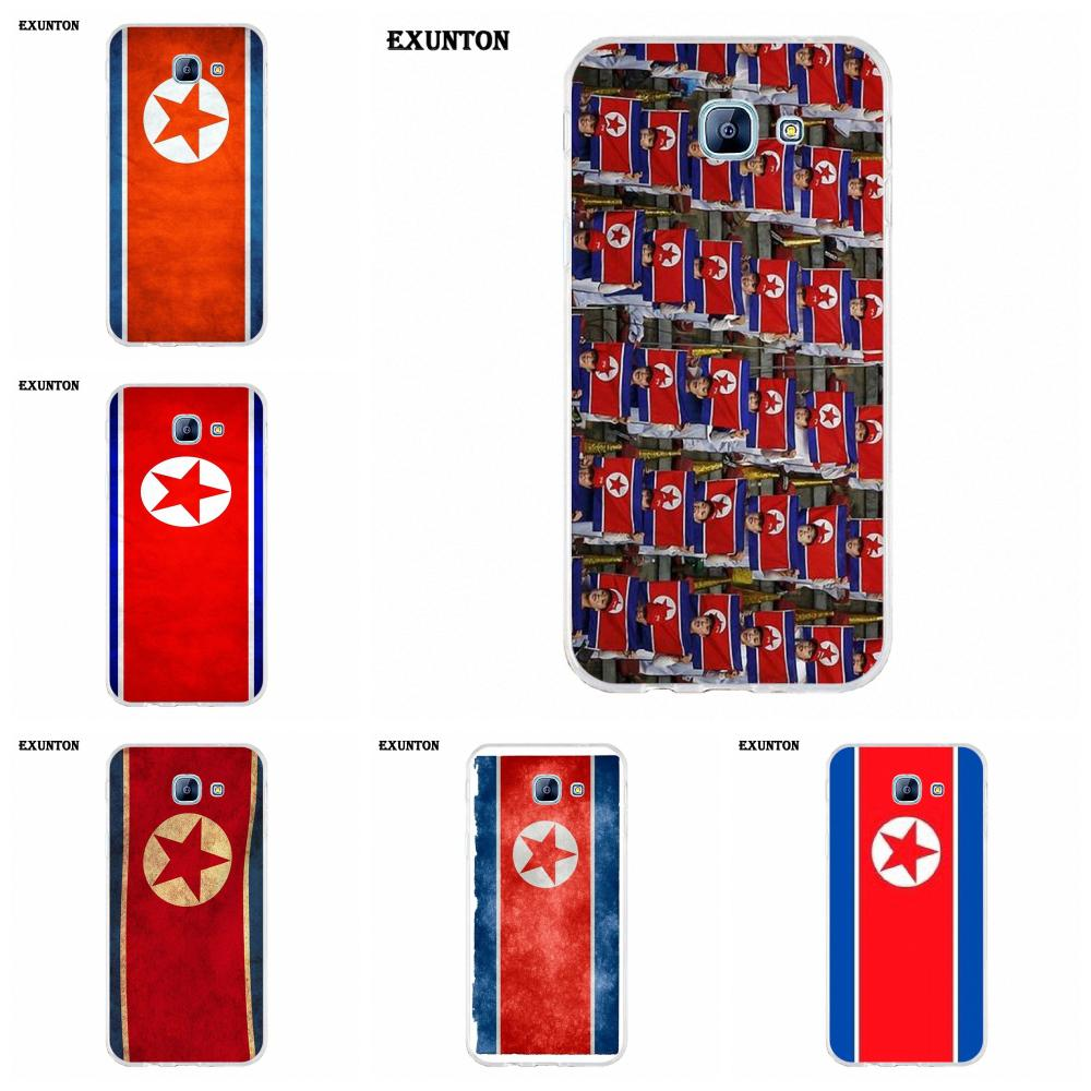 TPU New Fashion For Huawei P7 P8 P9 P10 P20 P30 Lite Mini Plus Pro 2017 2018 2019 North Korea Grunge Flag image