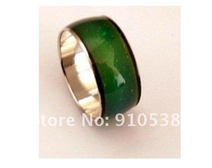 Stimmung ring dicke 10mm in breite ändert sich die farbe temperatur von ihrer blutmischungsgröße 100 stücke-in Ringe aus Schmuck und Accessoires bei  Gruppe 1